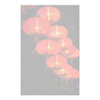 Chinese Red Lanterns Personalized Stationery