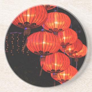 Chinese Red Lanterns Sandstone Coaster