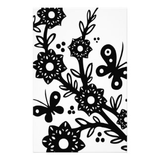 Chinese swirl floral design personalised stationery