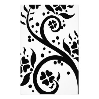 Chinese swirl floral design stationery