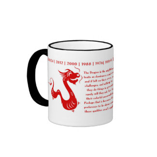 CHINESE ZODIAC DRAGON HOROSCOPE MUG