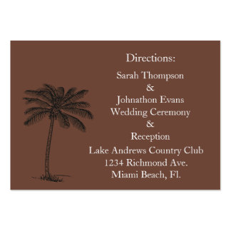 Chocalate Java Beach Getaway Direction Cards Pack Of Chubby Business Cards