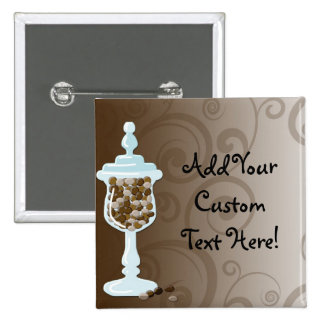 Chocolate Candy Buffet Bar, Urn of Sweets 15 Cm Square Badge