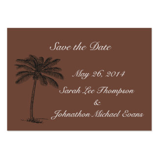 Chocolate Java Beach Getaway Save The Date Cards Pack Of Chubby Business Cards