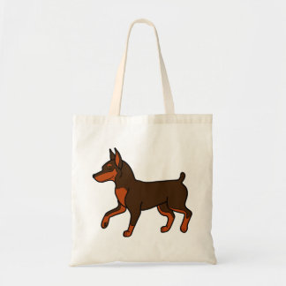 Chocolate Miniature Pinscher Budget Tote Bag