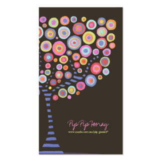 Chocolate Retro Circle Tree Online Store Card Pack Of Standard Business Cards