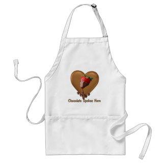 Chocolate Spoken Here Standard Apron