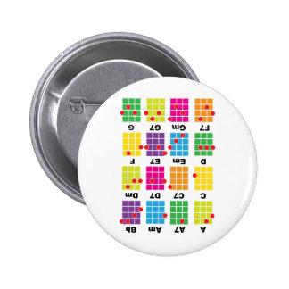 Chord Cheat Tee White 6 Cm Round Badge
