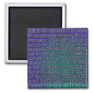 Chris Hitchens Surrender of Reason (Blues) Magnet