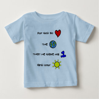 Christian baby tee - For God so Loved the World