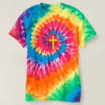 """CHRISTIAN CROSS"" TIE-DYE SPIRAL TEES"