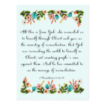 Christian inspirational Art- 2 Corinthians 5:18-19 Postcard