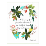Christian inspirational Art - Isaiah 26:3 Postcard