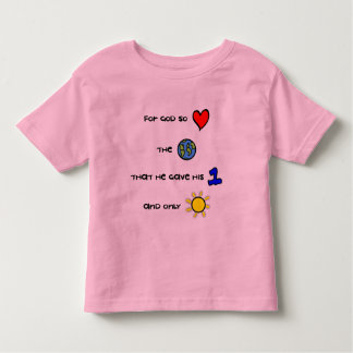 Christian toddler tee - For God so Loved the World