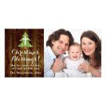 Christian Vintage Country Christmas Cross Tree Photo Card