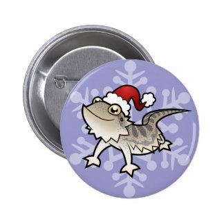 Christmas Bearded Dragon / Rankins Dragon 6 Cm Round Badge