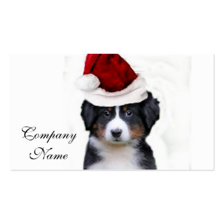 Christmas Bernese Mountain Dog Pack Of Standard Business Cards