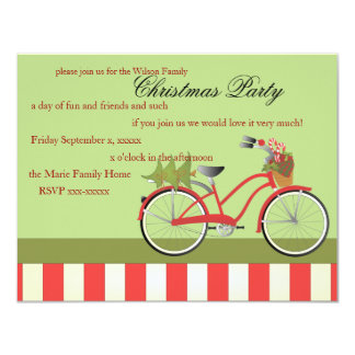 Christmas Bicycle 11 Cm X 14 Cm Invitation Card