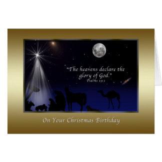 Christmas, Birthday, Nativity, Religious Greeting Card