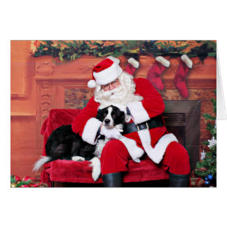 Christmas - Border Collie - Flip Greeting Card