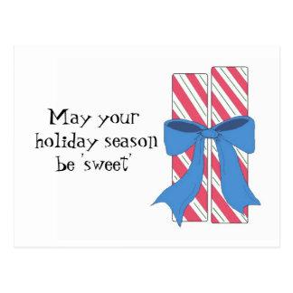 Christmas Candy with Sweet Saying Postcard