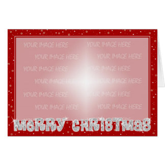 Christmas Card Border - Red Silver
