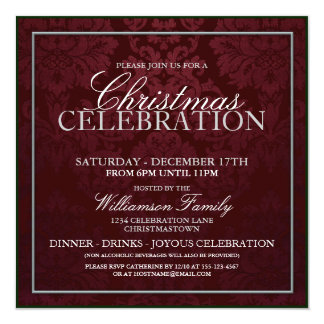 Christmas Celebration Dinner Party Invitation