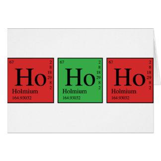 Christmas Chemistry Greeting Card