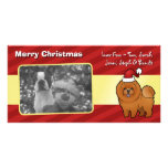 Christmas Chow Chow Photo Greeting Card