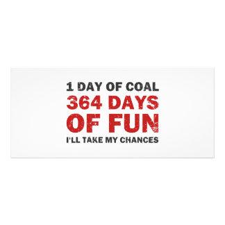 Christmas Coal VS 364 Days of Fun Full Color Rack Card