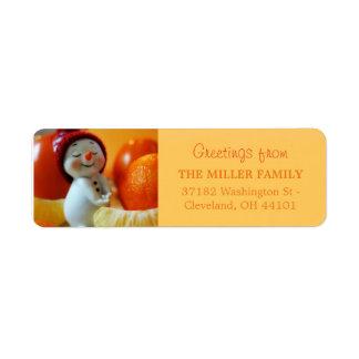 Christmas Cute Snowman Return Address Label