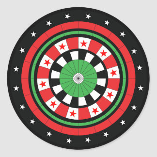 Christmas Dartboard Round Sticker