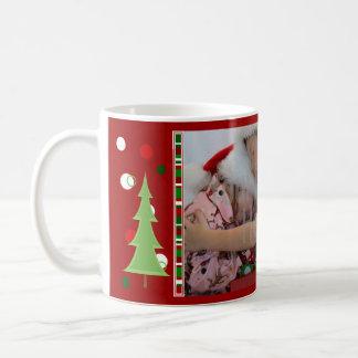 Christmas Dots and Stripes Photo Mug