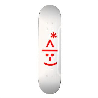Christmas Elf Emoticon Xmas ASCII Text Art Skateboard Deck