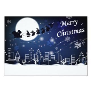 Christmas Eve Ride with Stork Card 13 Cm X 18 Cm Invitation Card