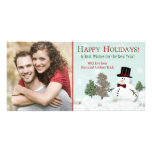 Christmas Family Photo Snowman Holiday Photocard Photo Cards