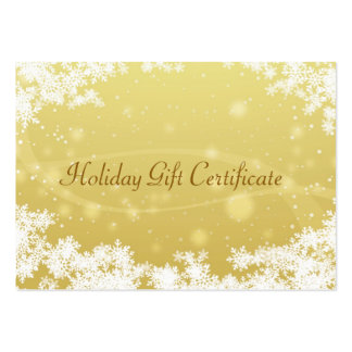 Christmas gift certificate pack of chubby business cards