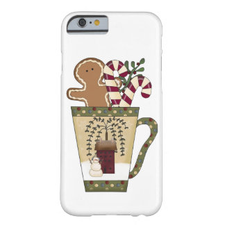 Christmas Gingerbread Holiday Greetings Barely There iPhone 6 Case