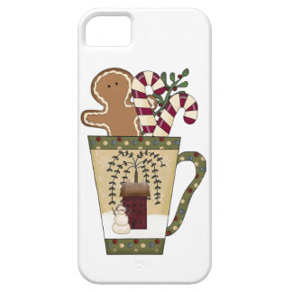 Christmas Gingerbread Holiday Greetings iPhone 5 Cases