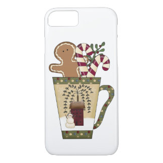 Christmas Gingerbread Holiday Greetings iPhone 7 Case
