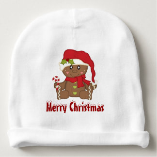 Christmas Gingerbread Man Baby Beanie