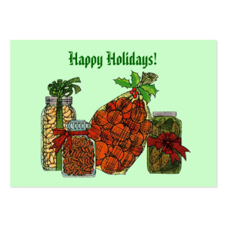 CHRISTMAS HOLIDAY BASKET GIFT TAG CARDS HOME GROWN PACK OF CHUBBY BUSINESS CARDS