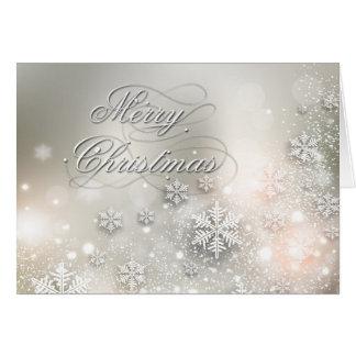 Christmas Holiday Elegant Snowflake Greeting Card