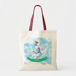 Christmas Holiday Lady Runner © Budget Tote Bag