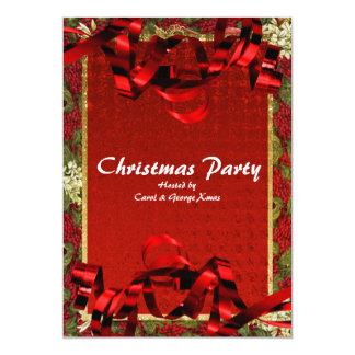 Christmas holiday party elegant office 13 cm x 18 cm invitation card