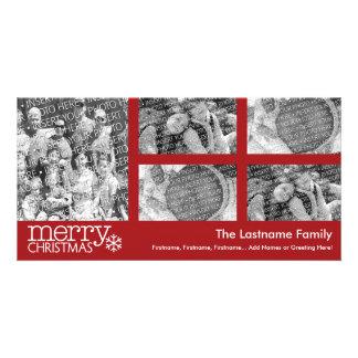 Christmas Holiday Photo Card: 5 photo collage Customized Photo Card