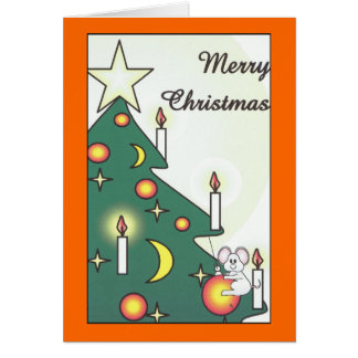 Christmas Mouse Note Card