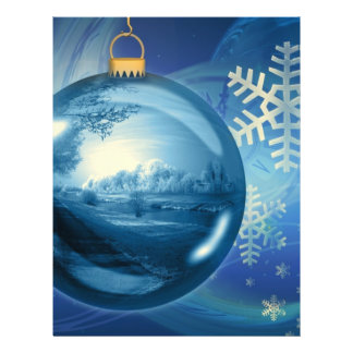 Christmas Ornament Ball Evening Advent Blue 21.5 Cm X 28 Cm Flyer