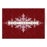 Christmas Ornamental Frame Greeting Card