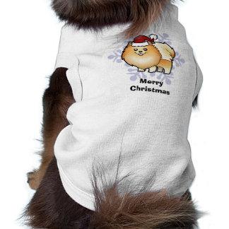 Christmas Pomeranian Sleeveless Dog Shirt